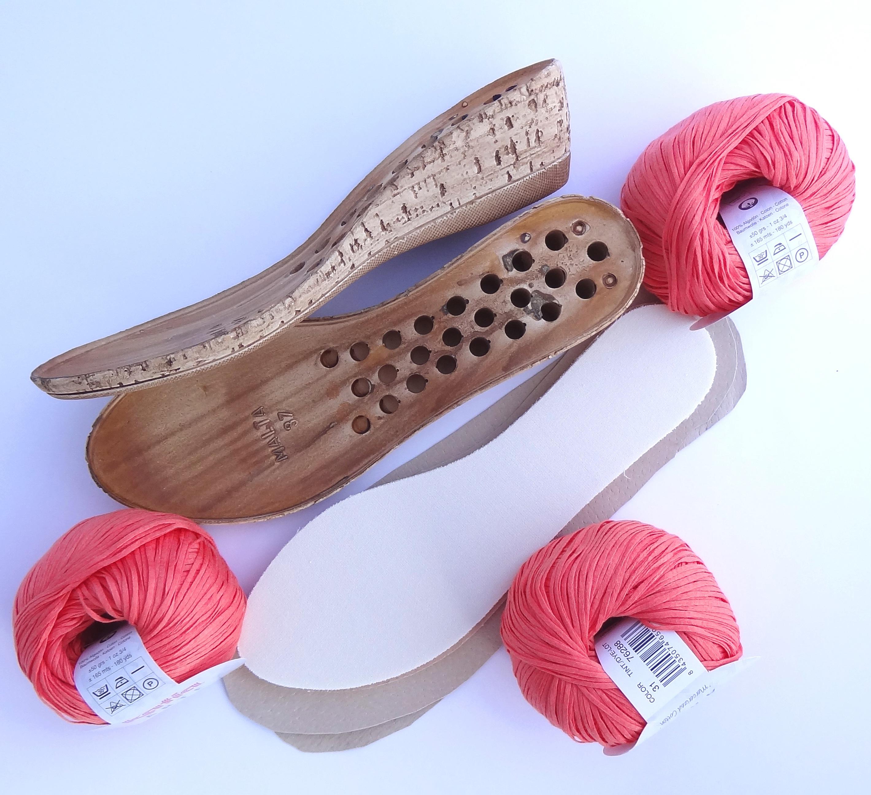 Talpa cu platforma pentru sandale crosetate